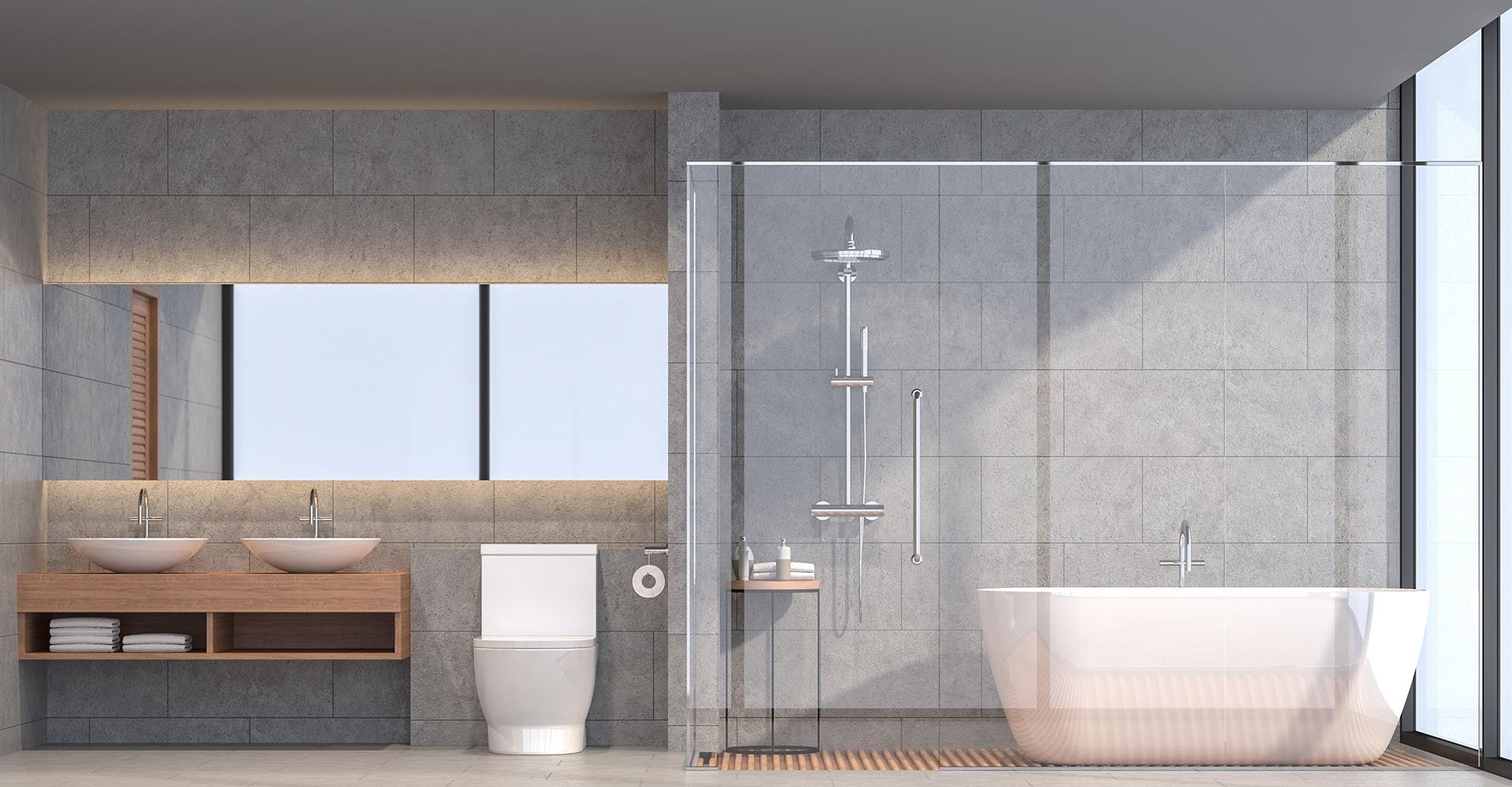 Douche en verre salle de bain