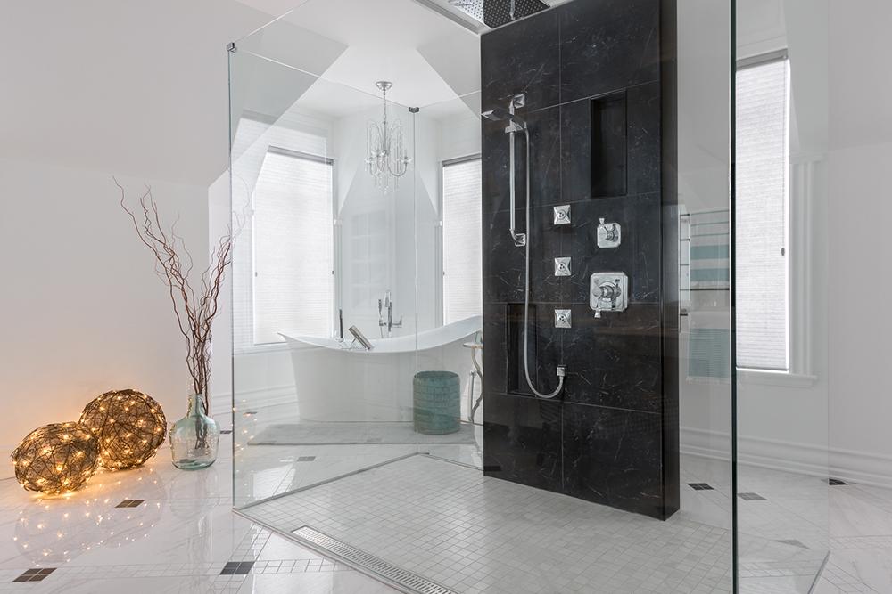 Douche de verre - Résidentiel