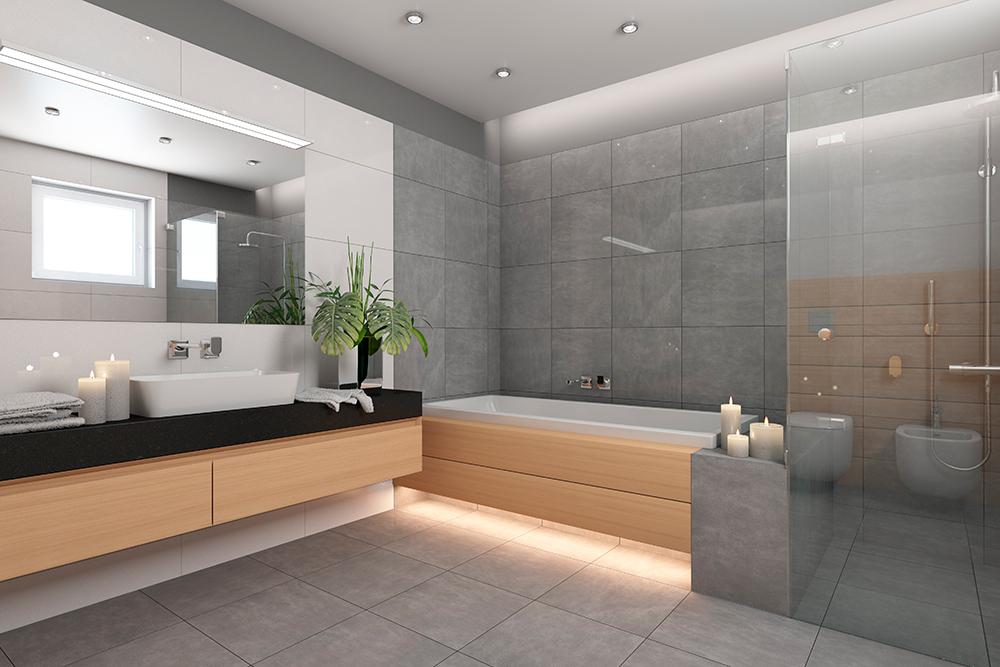 Miroir et douche en verre - Résidentiel